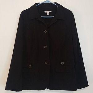 JM Collection black blazer jacket